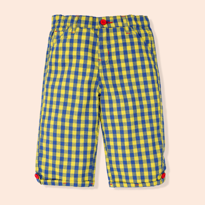 Yellow Check Shorts