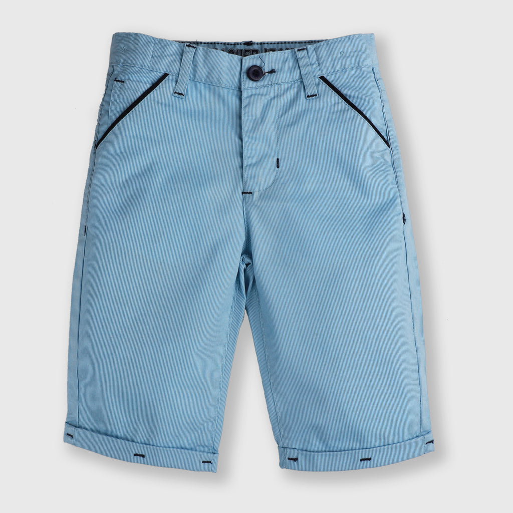 Blue Roll-up Shorts