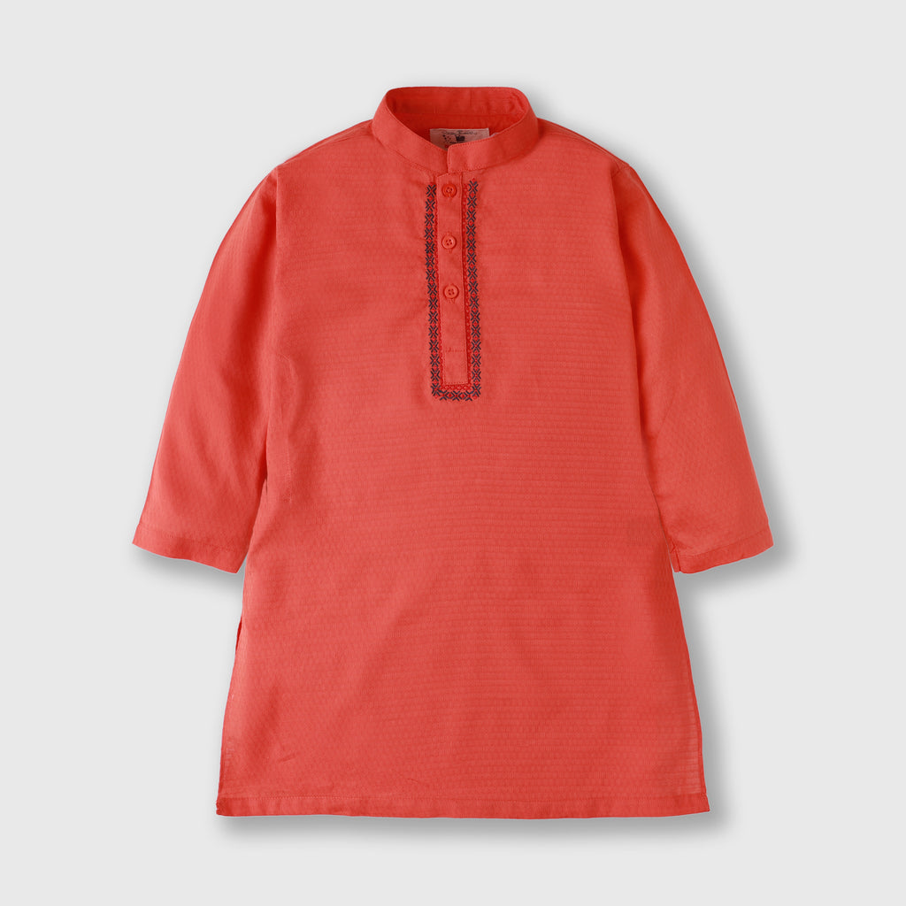 Crimson Embroidered Kurta