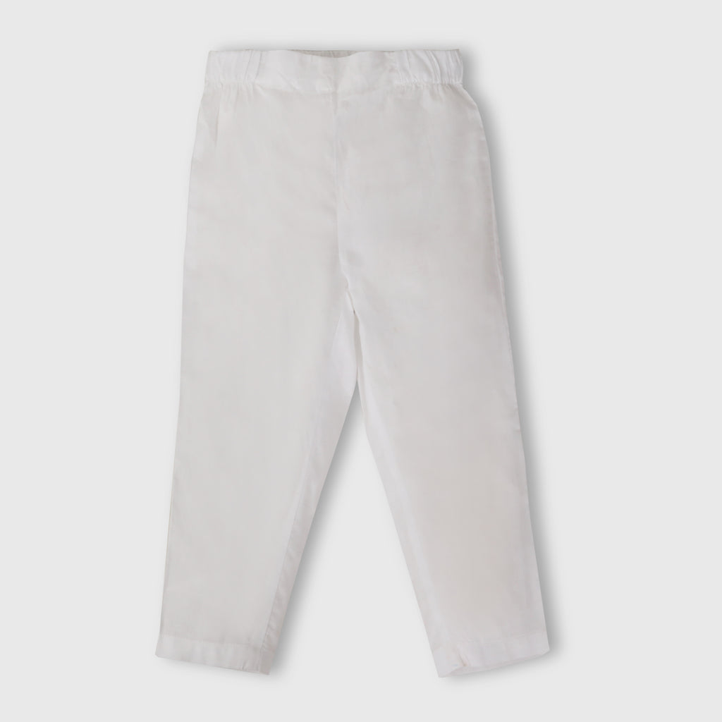 Milky White Girl Trouser