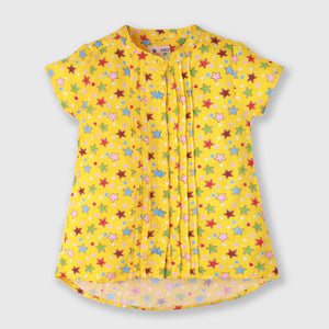 Yellow Star Printed Top