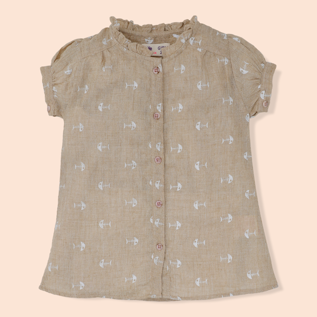 Brown Fishbone Top