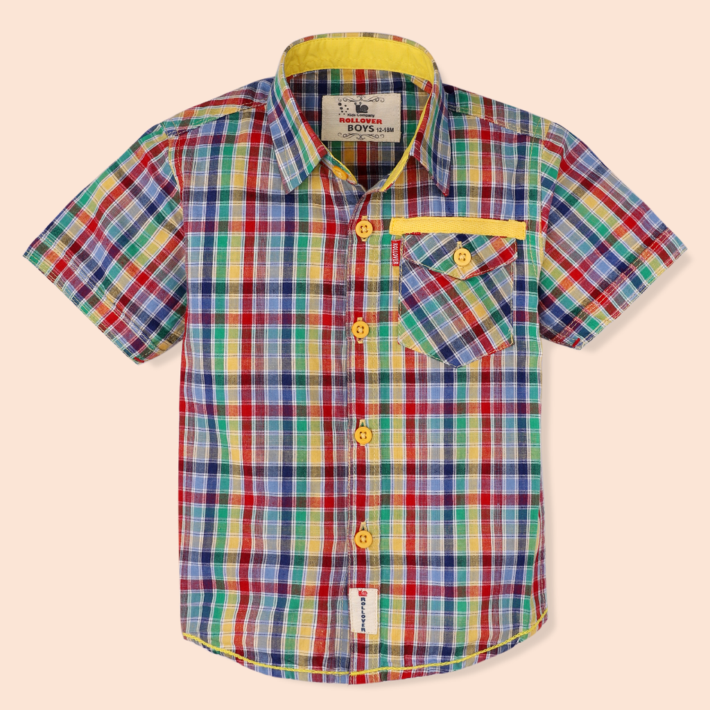 Rainbow Check Shirt