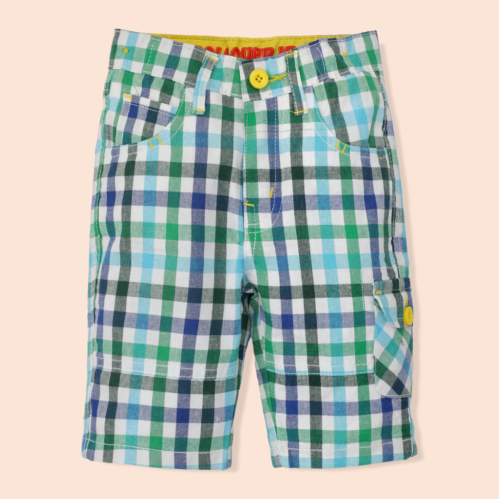 Green Check Shorts