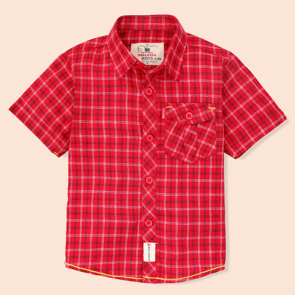 Red Pocket Shirt