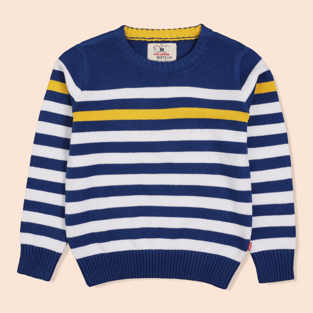 Stripy Blue Sweater
