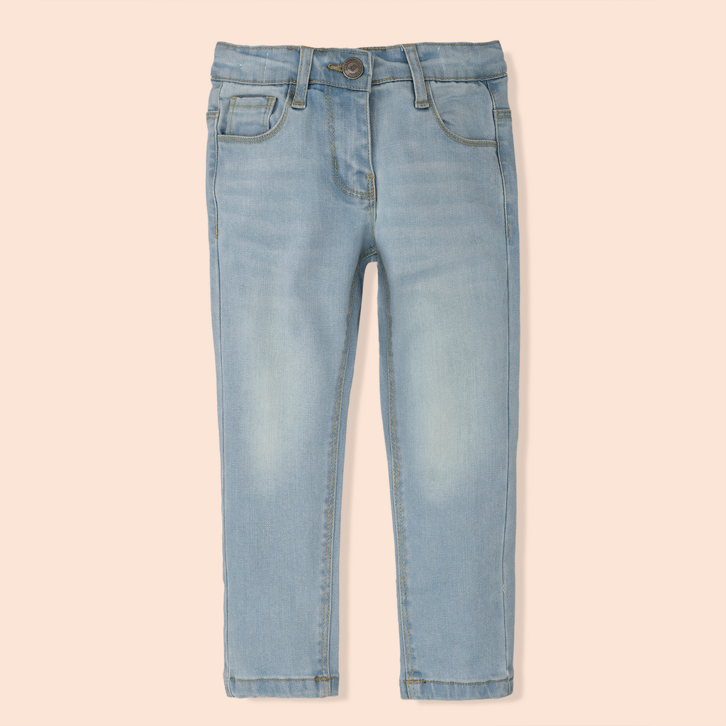 Girls Light Wash Jeans