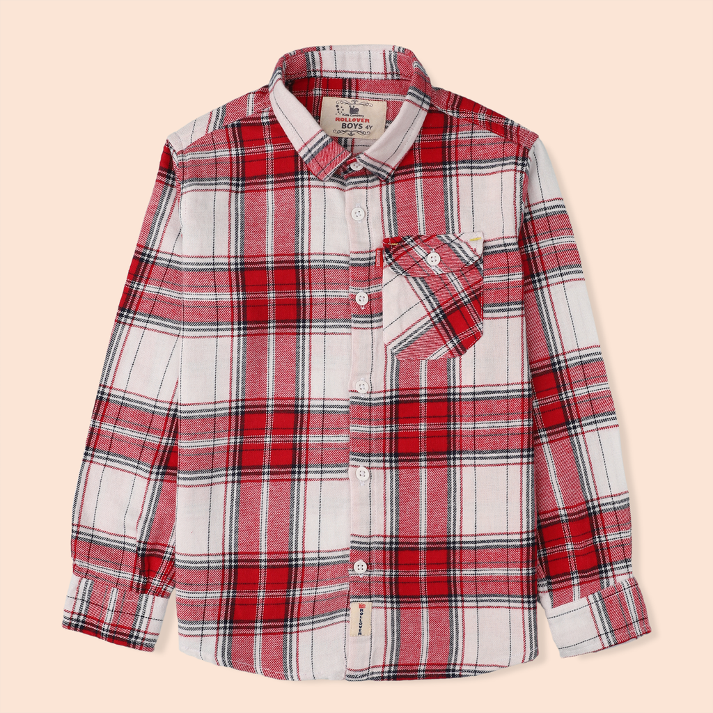 White Flannel Plaid Shirt