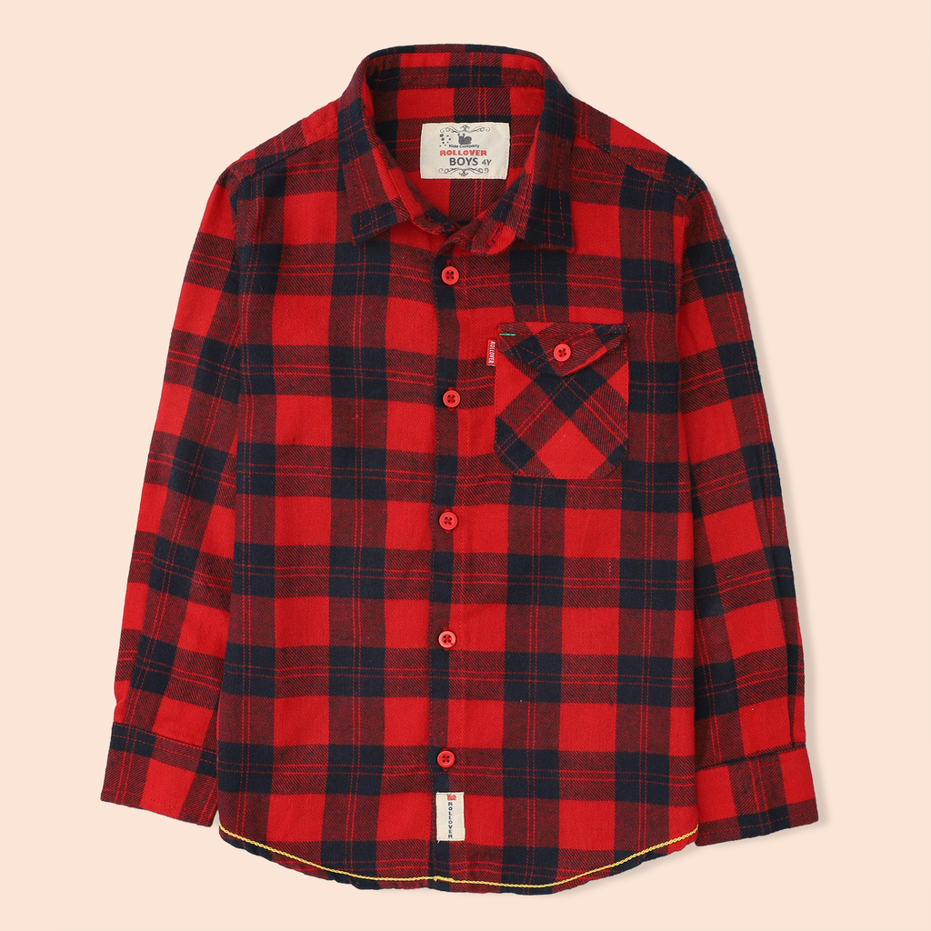 Red Flannel Plaid Shirt