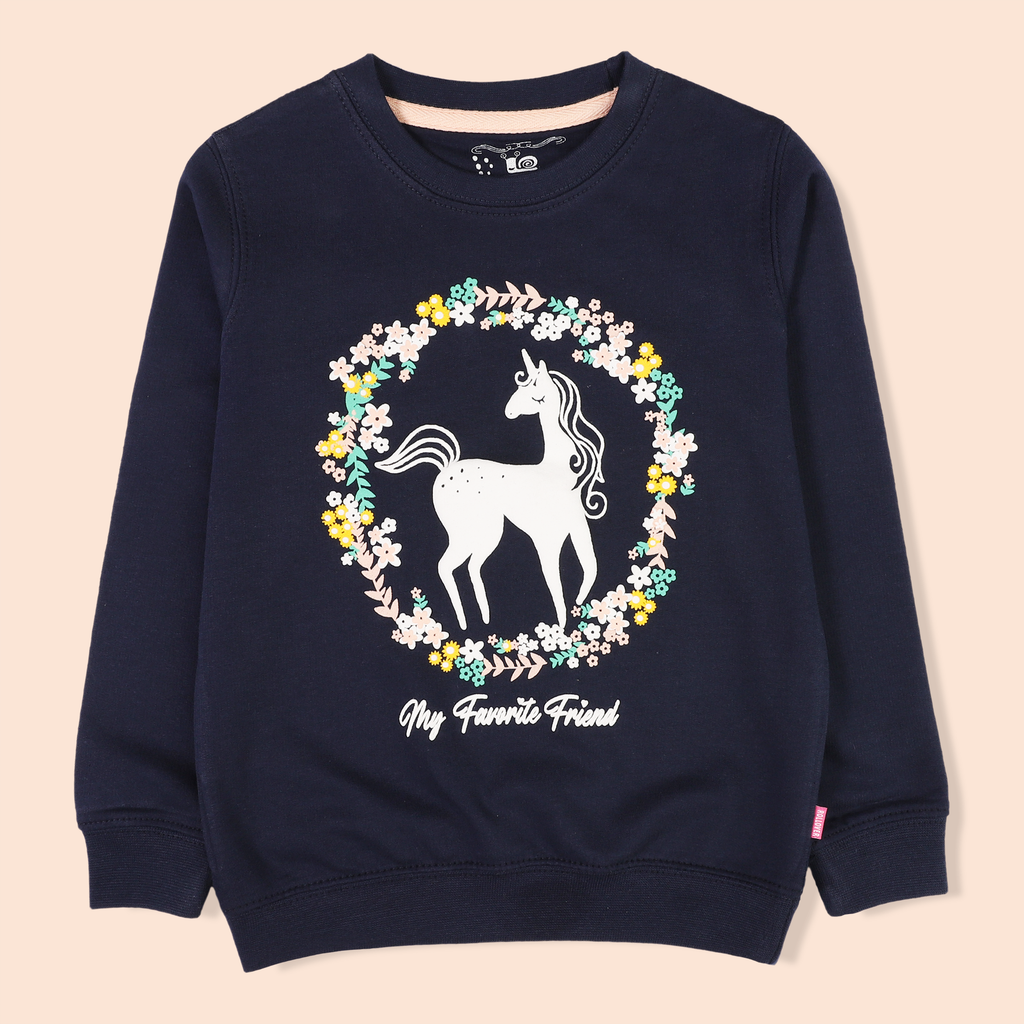 Navy Unicorn Sweatshirt
