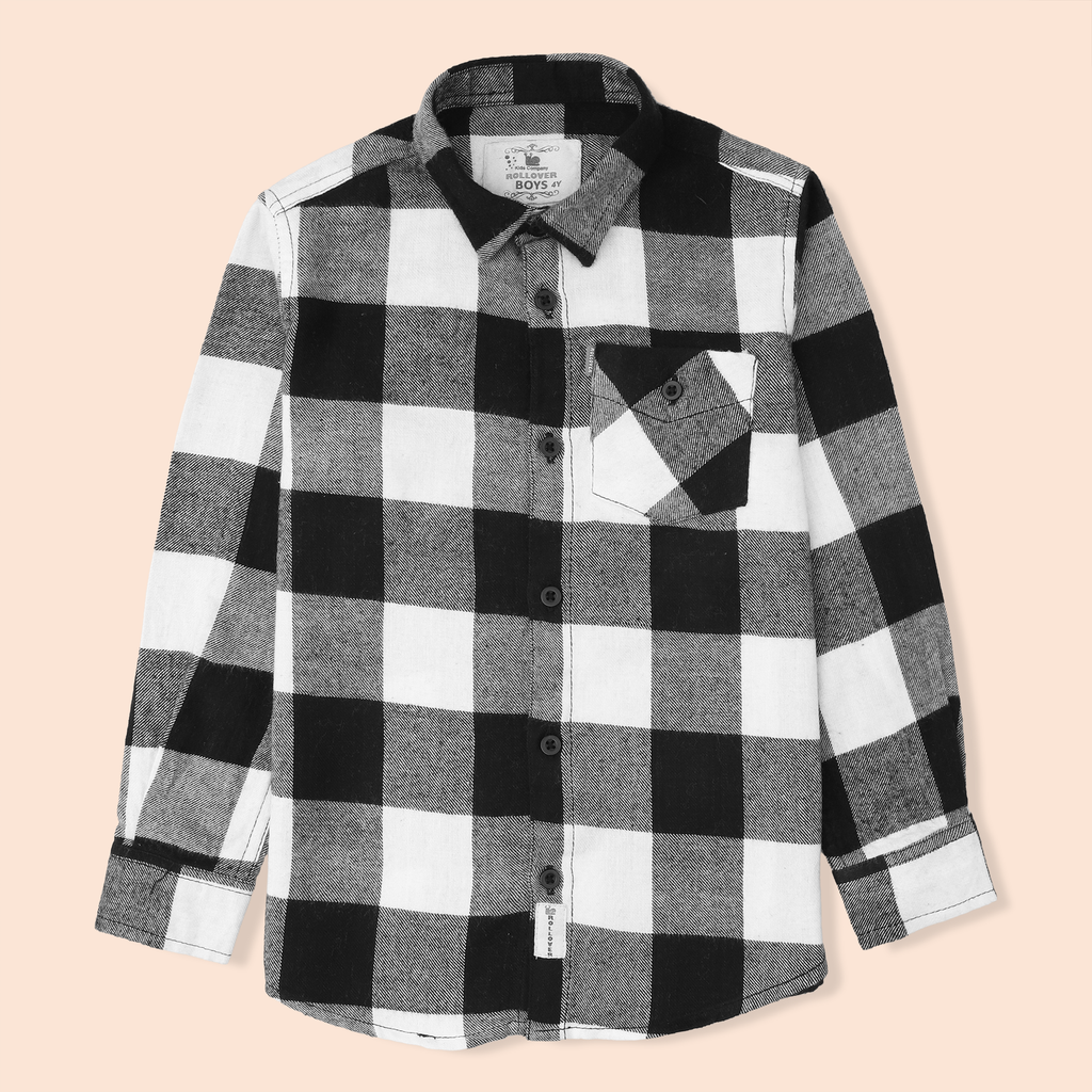 Black Flannel Check Shirt