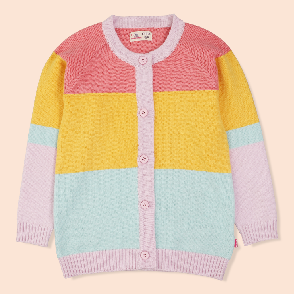 Rainbow Colored Cardigan