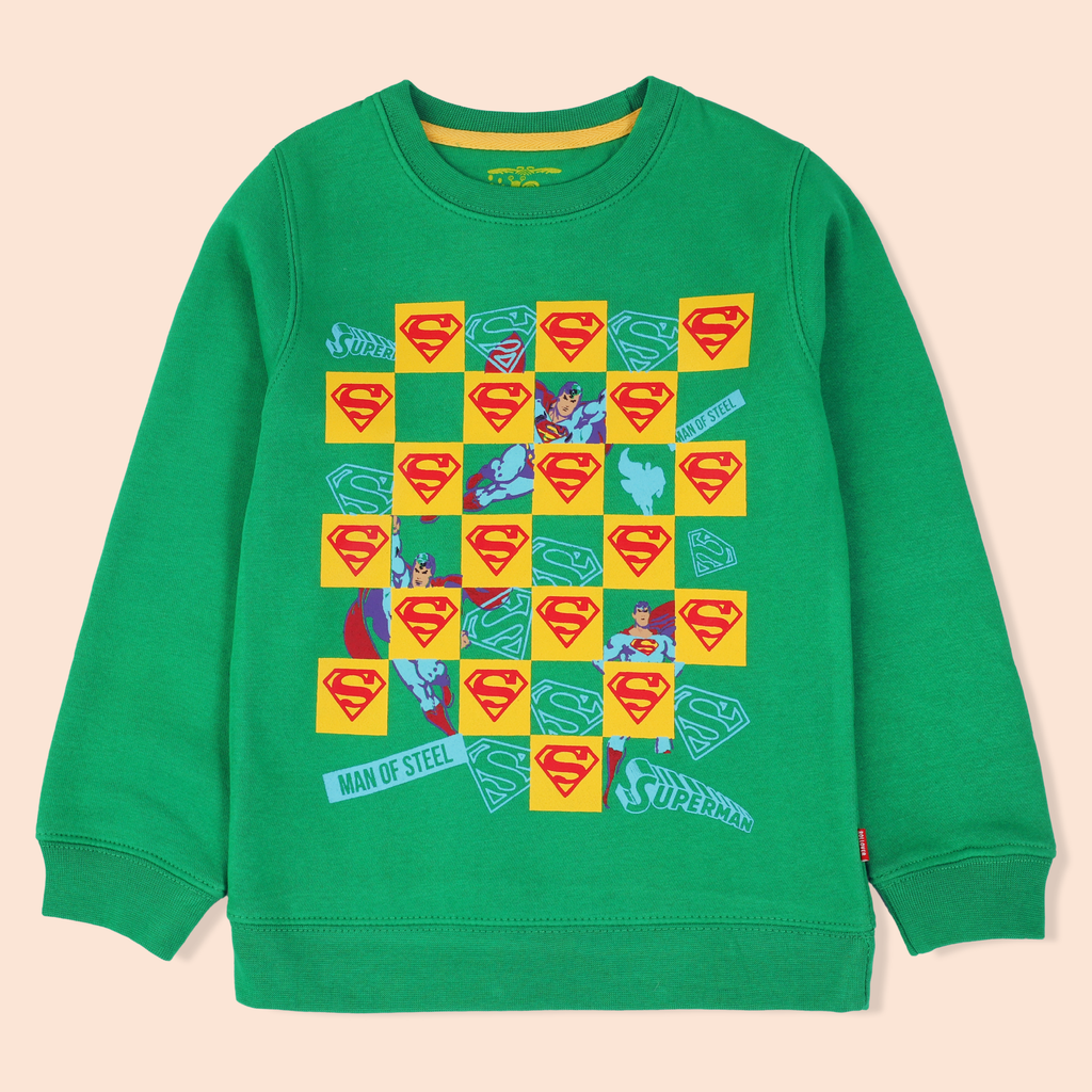 Green Superman Sweatshirt
