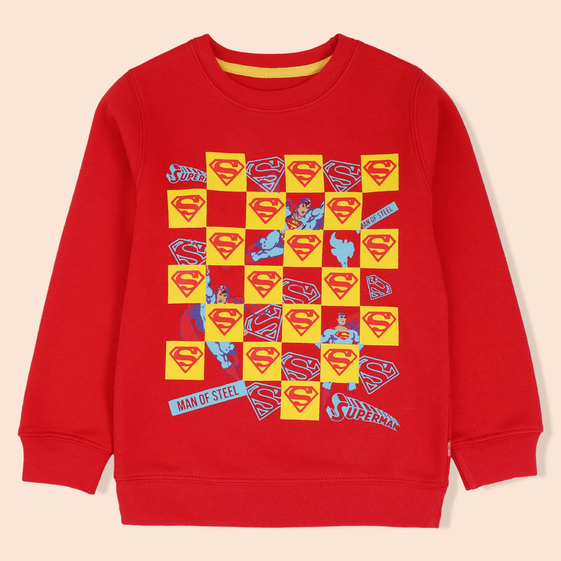 Red Superman Sweatshirt