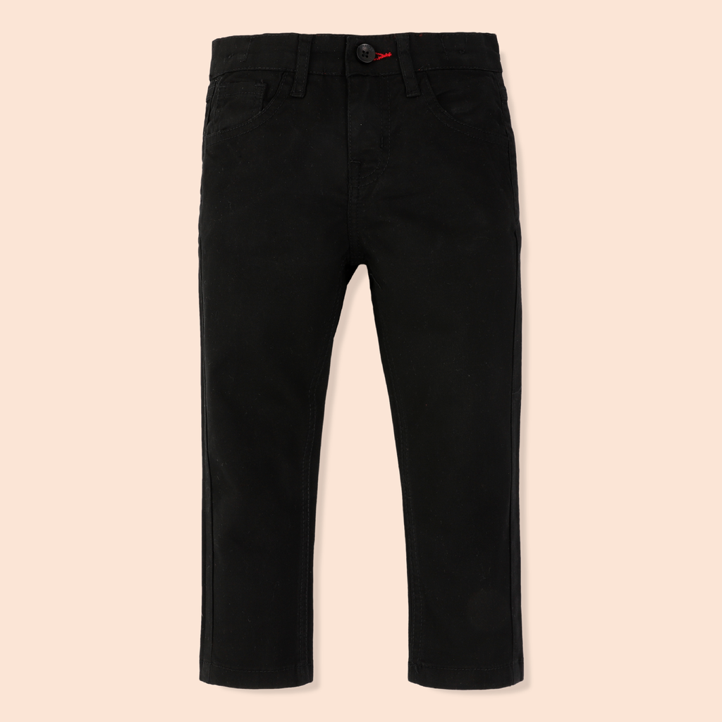 Boys Black Twill Pants
