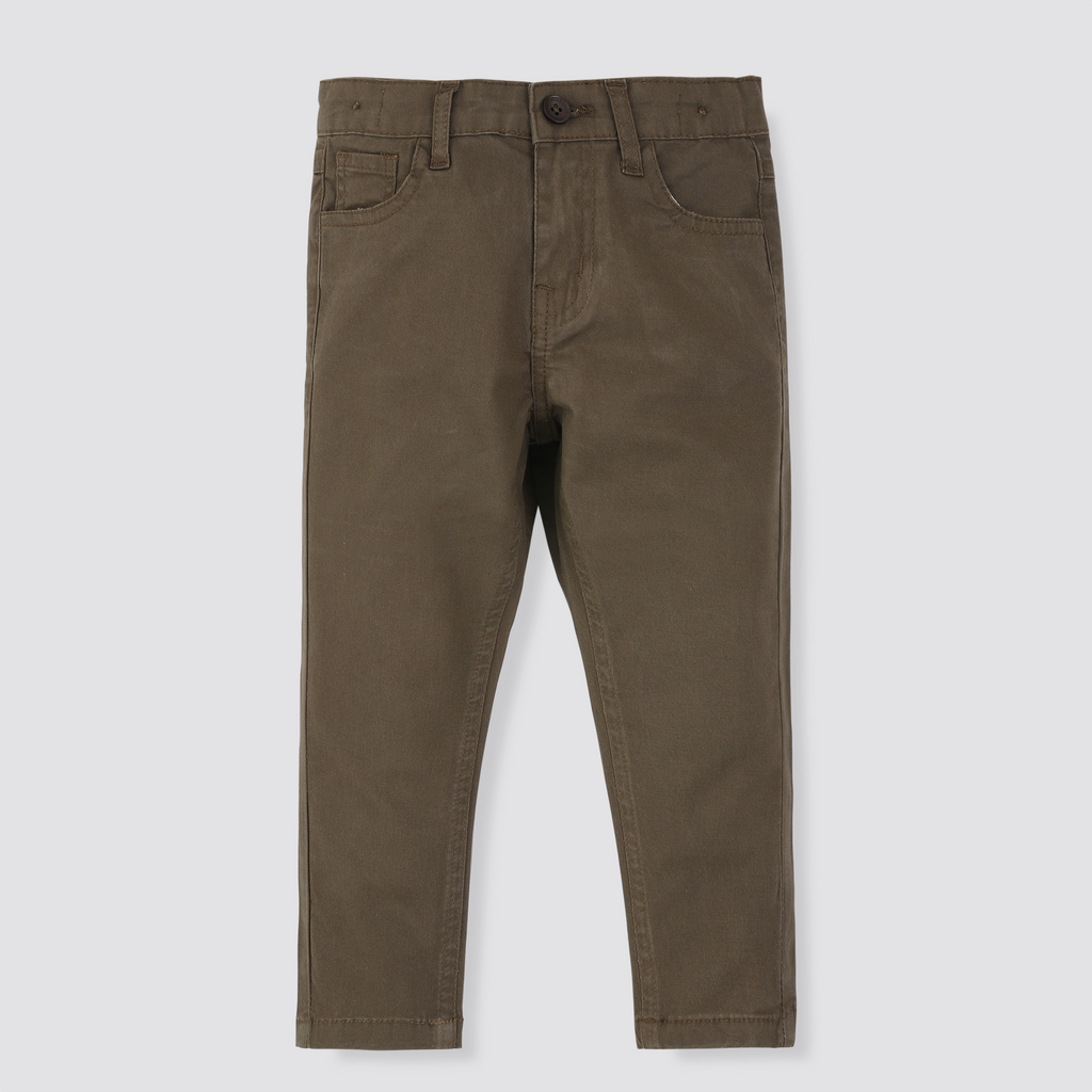 Taupe Cotton Pants