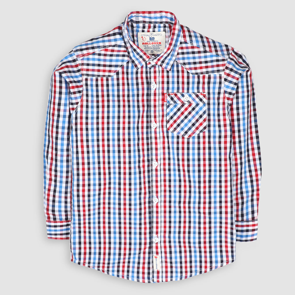 Multi-color Micro Gingham Shirt
