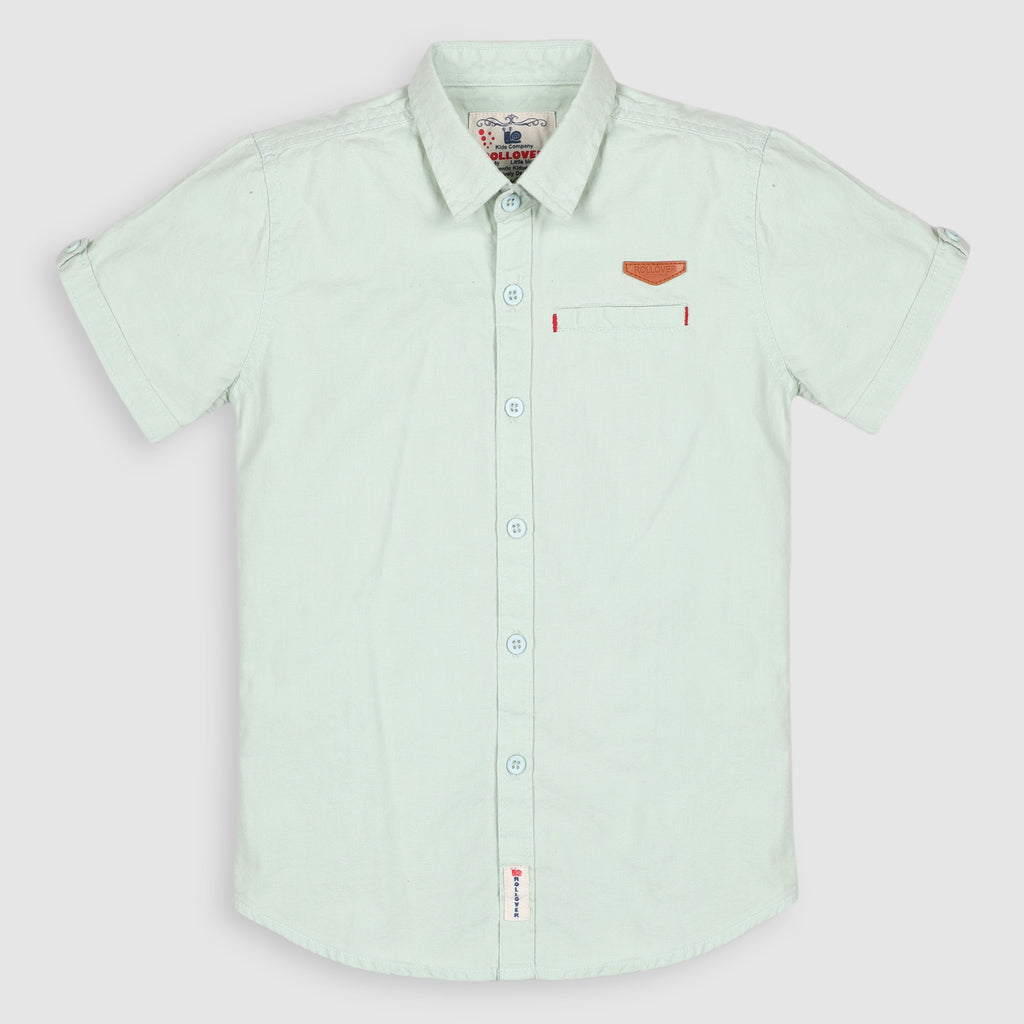 Pastel Green Casual Shirt