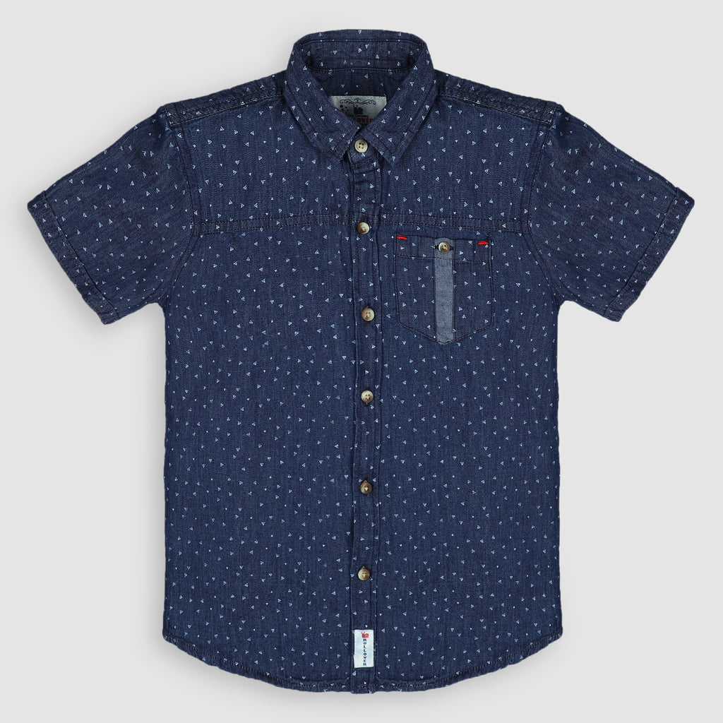 Dark Denim Printed Shirt