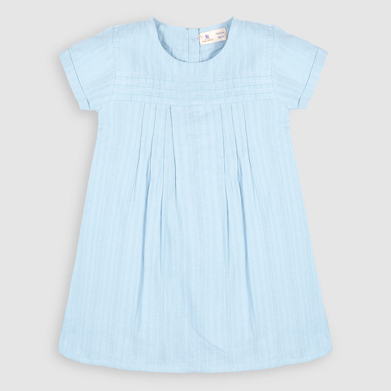 Ice Blue Textured Top