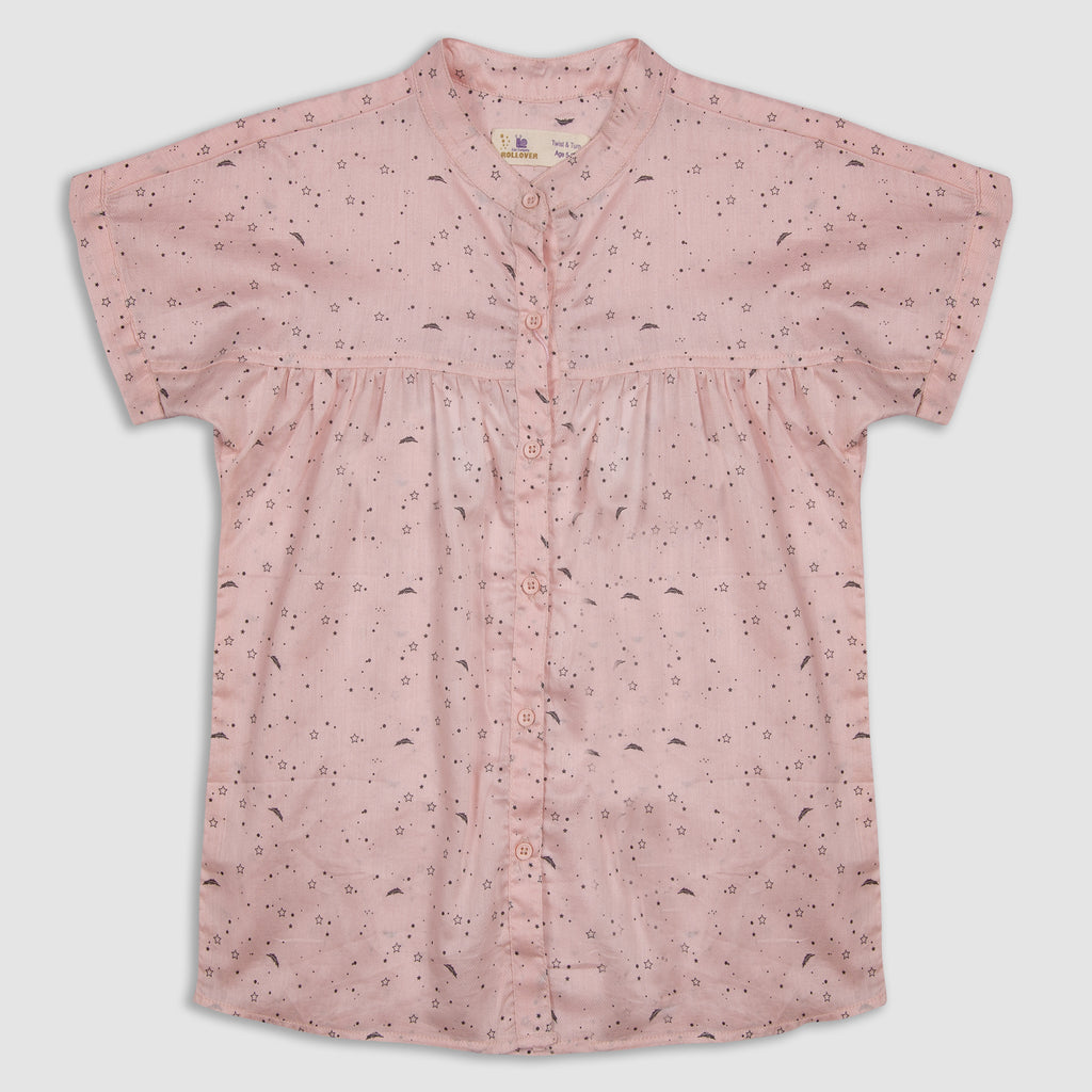 Pale Pink Feather Top
