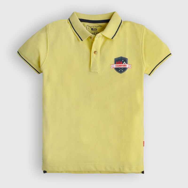 Yellow Camping Polo