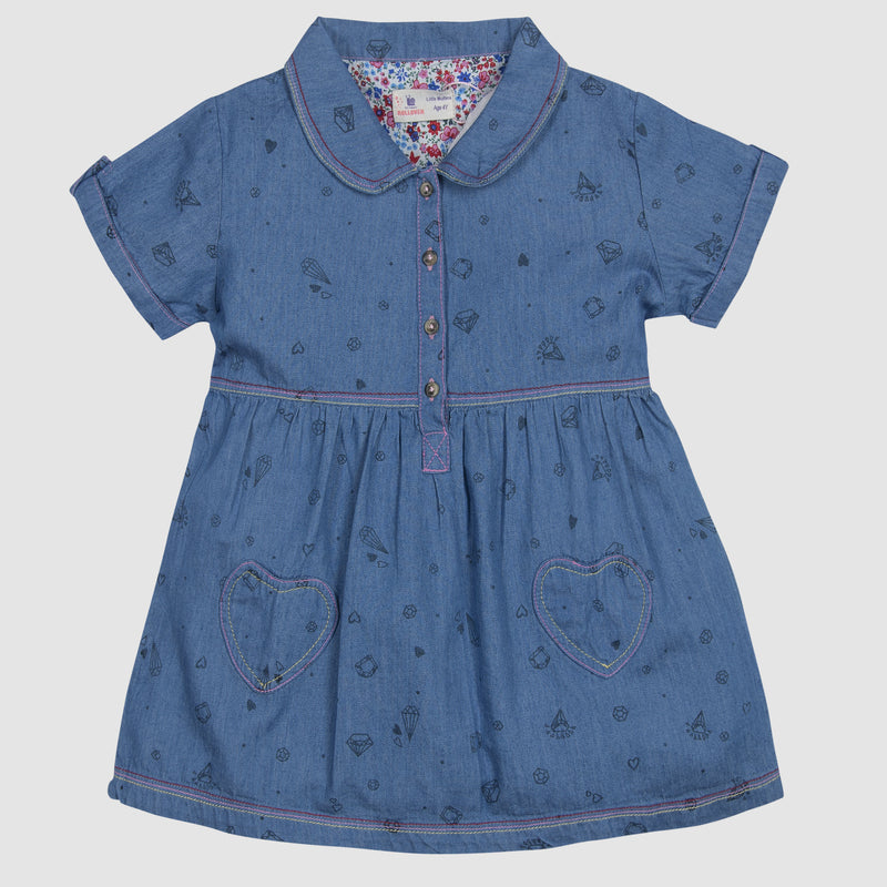 Denim Heart Frock