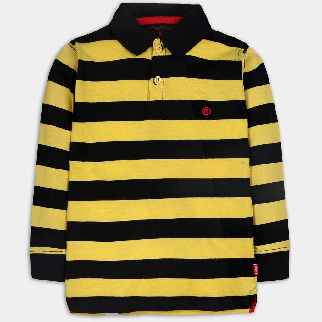 Yellow Striped Polo