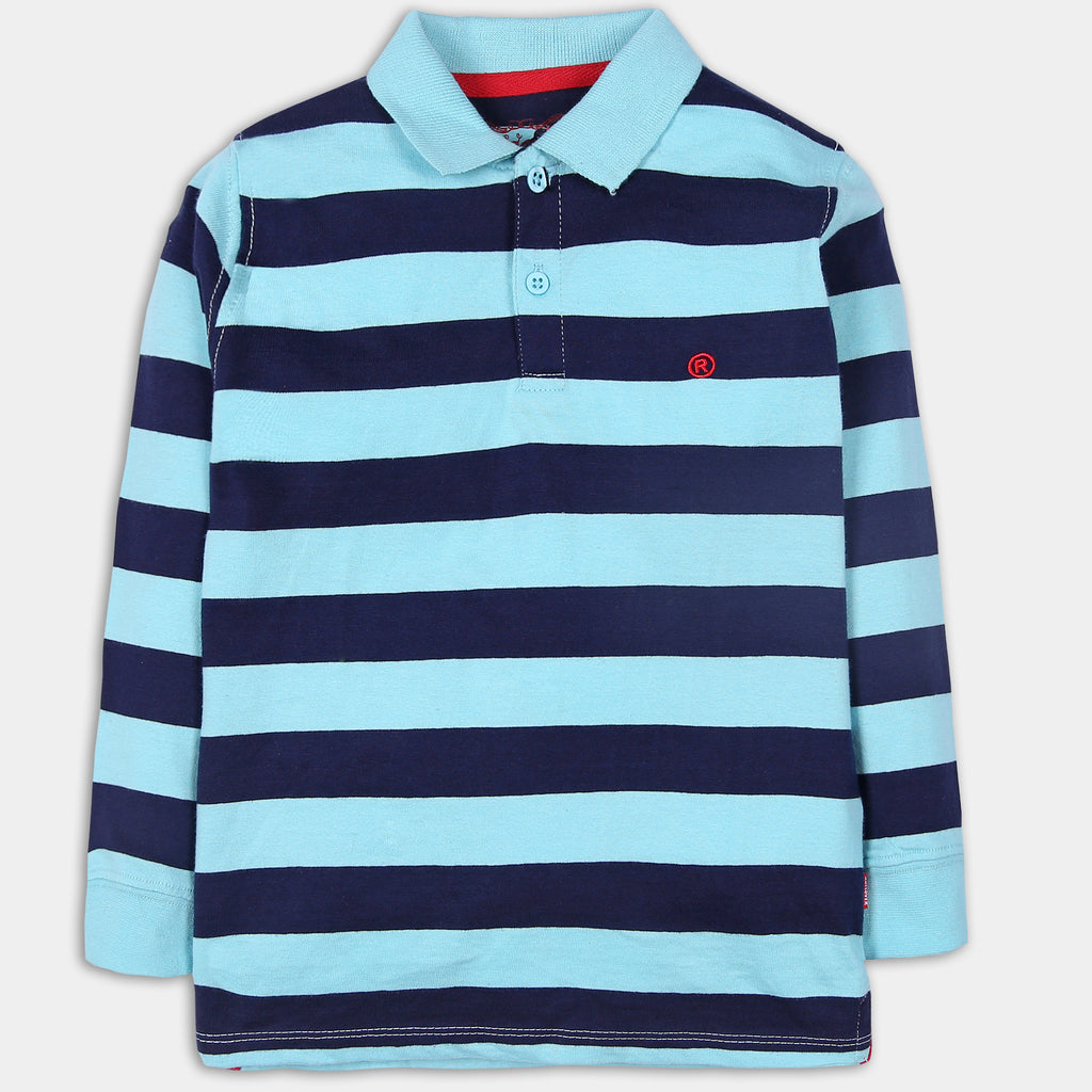 Sky Striped Polo
