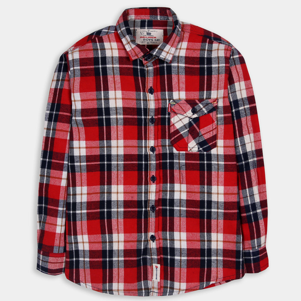 Blood Red Checked Shirt