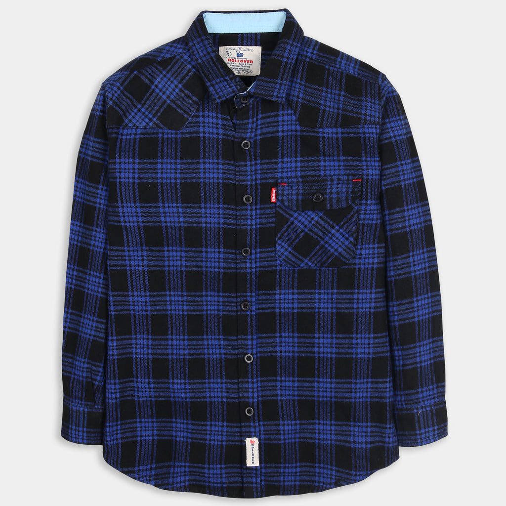Stone Blue Checked Shirt