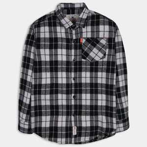 Deep Black Checked Shirt