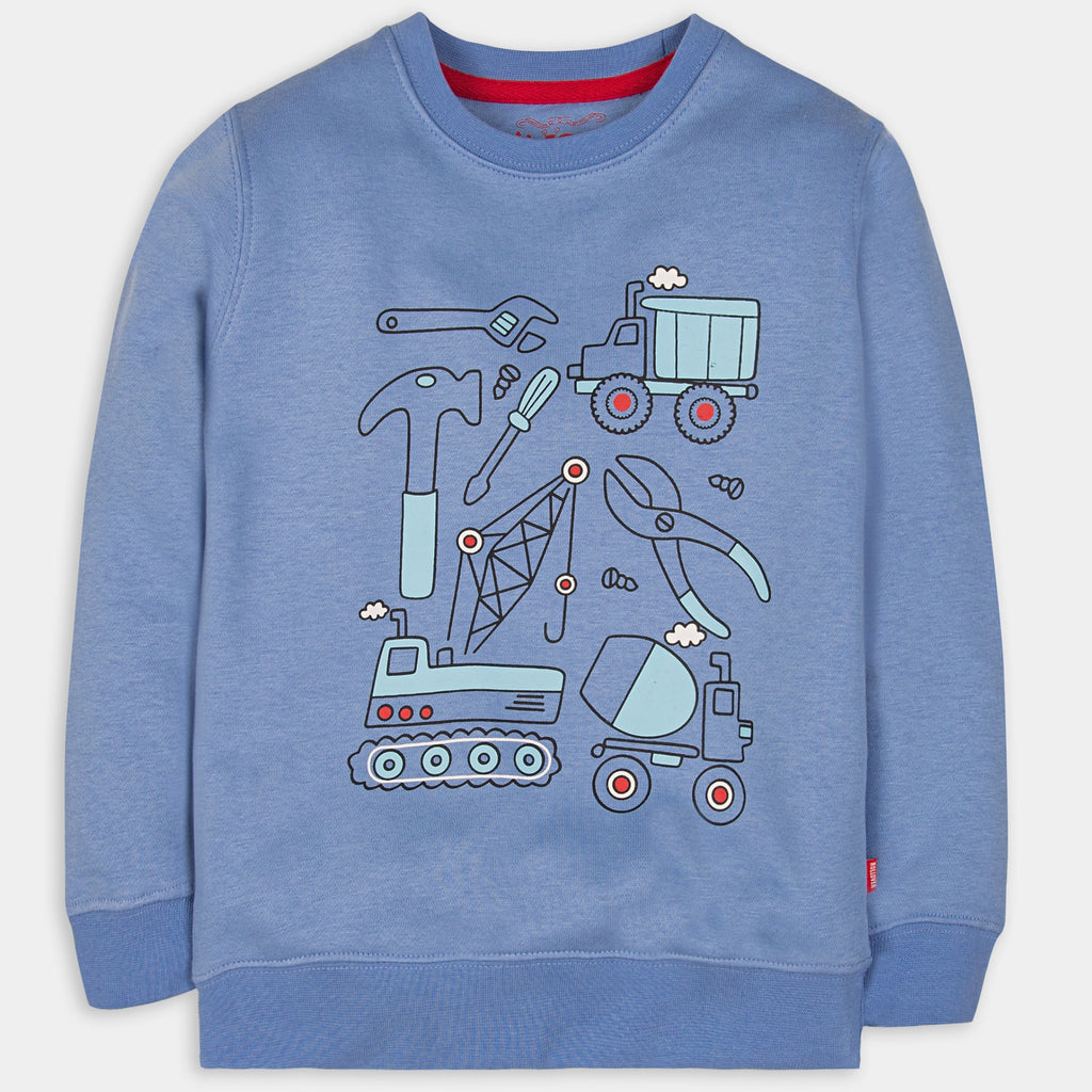 Blue Graphic Sweatshirt