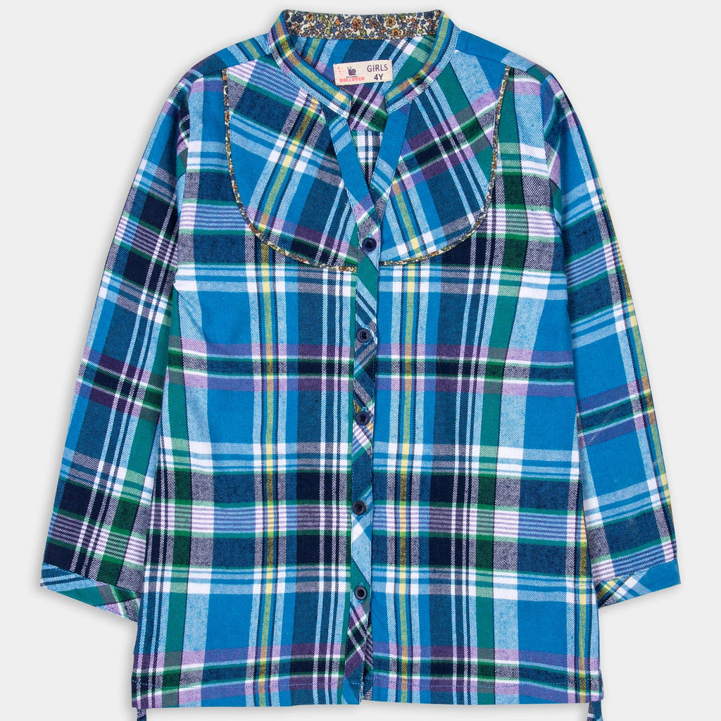 Aqua Blue Check Shirt