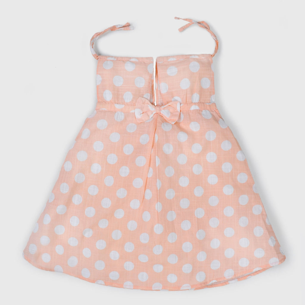 Peach Polka Dots Top