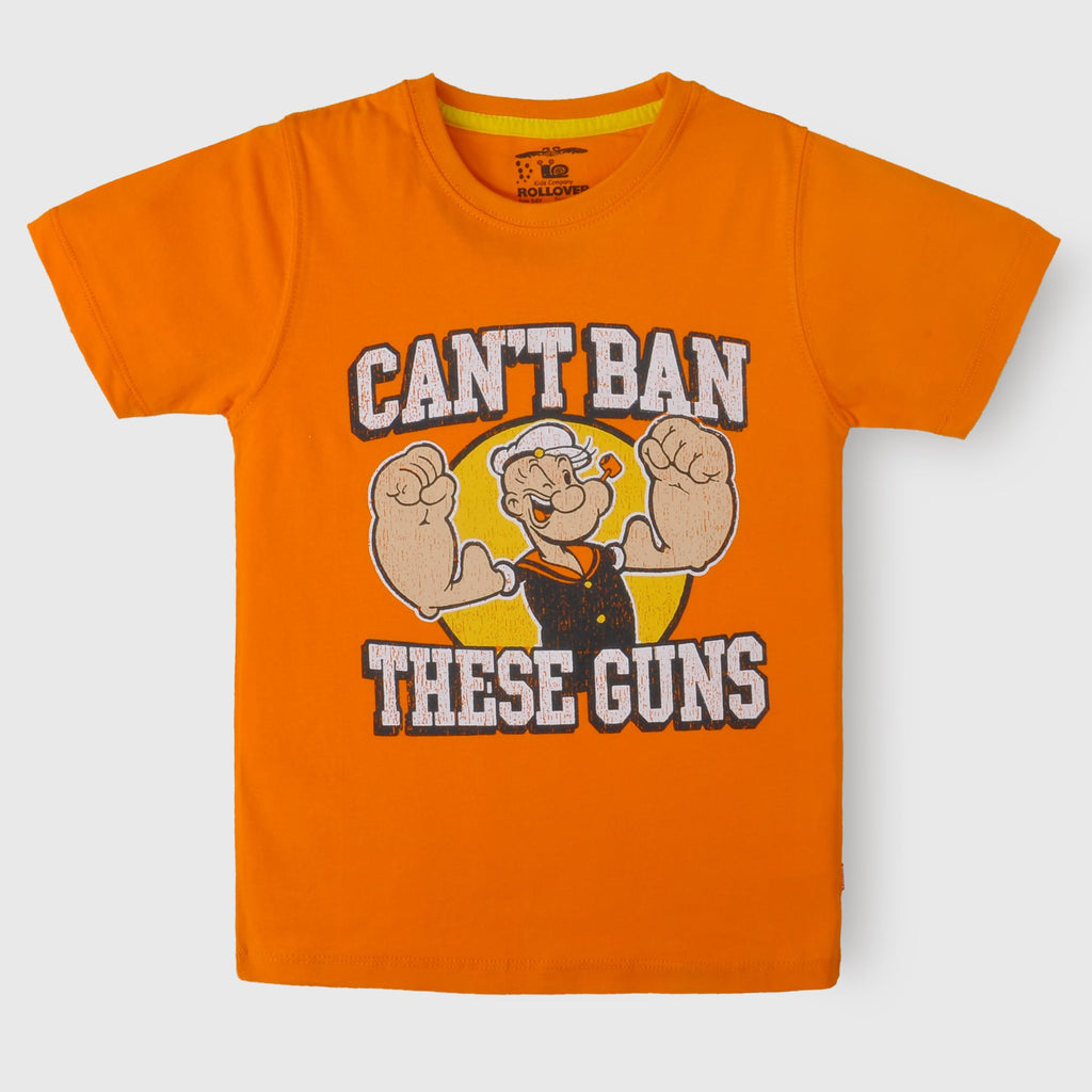 Orange Popeye T-Shirt