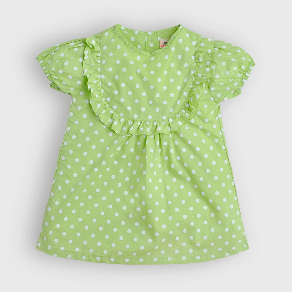 Lime Ruffle Yoke Top