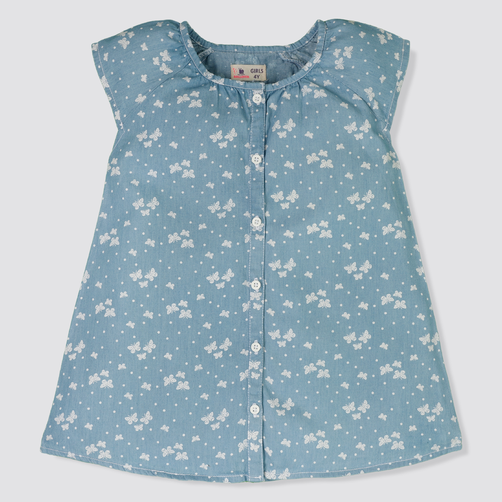 Butterfly Denim Top