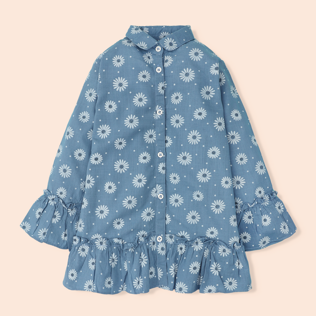 Periwinkle Daisy Top