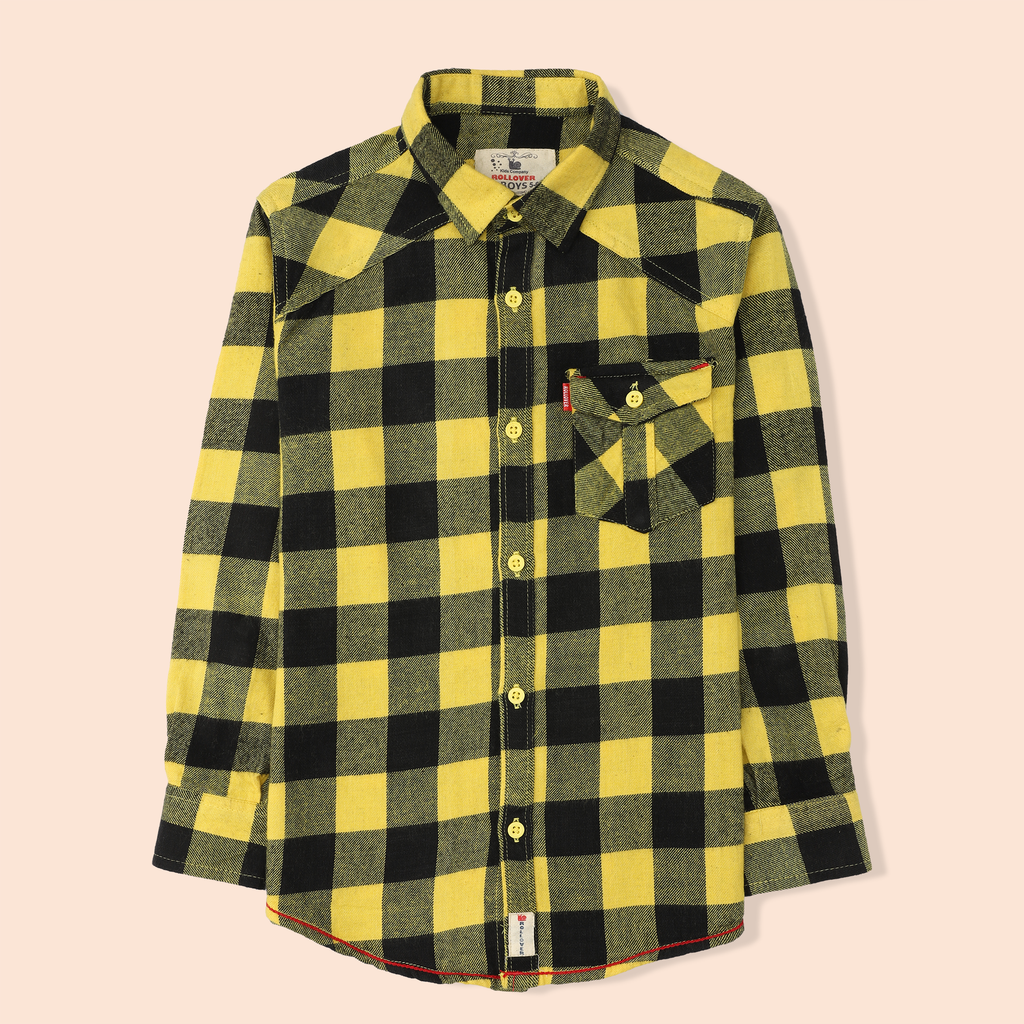Yellow Flannel Check Shirt