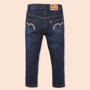 Girls Dark Denim Jeans