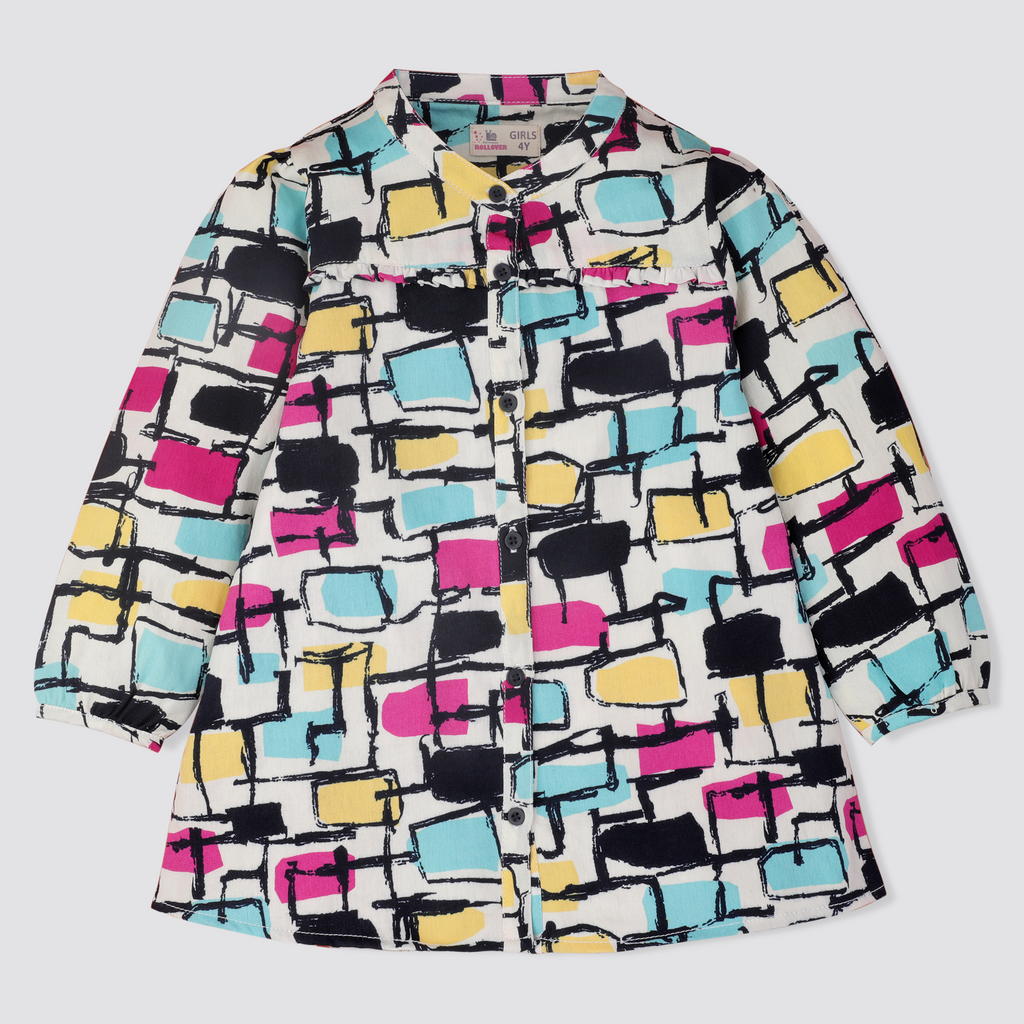 Geometric Girly Top