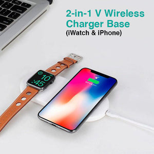 2-in-1 V Wireless Charger Base (iWatch & iPhone)