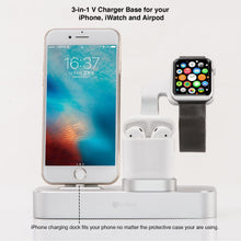 Load image into Gallery viewer, 3-in-1 V Charging Dock (iWatch, iPhone & Airpod)