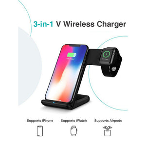 3-in-1 V Wireless Charger (iWatch, iPhone & Air-pod)