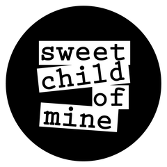 black and white logo sweet child of mine