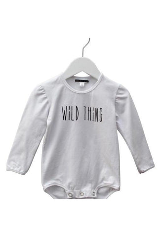 Wild Thing Long Sleeve Baby Onesie