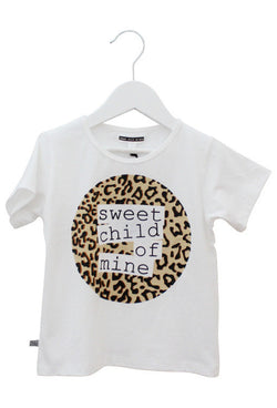 Sweet Child of Mine Logo Tee - Leopard Print
