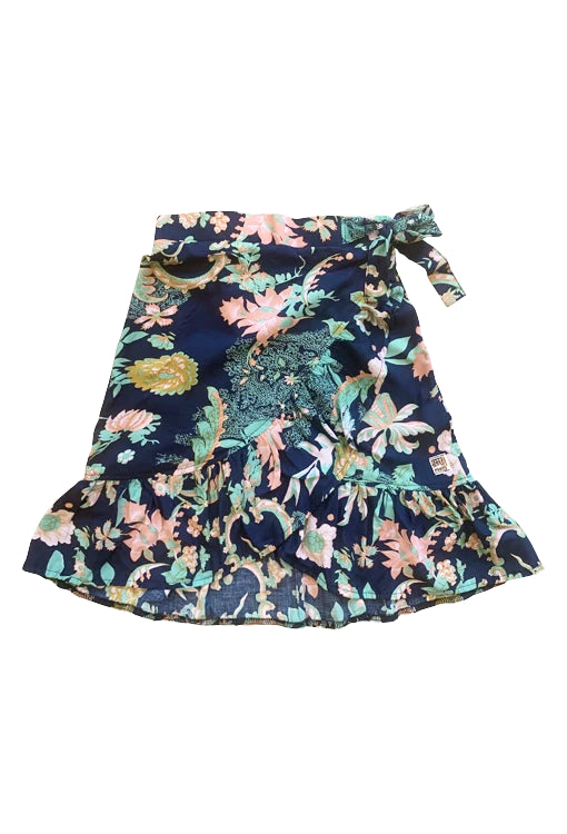 Lola Wrap Skirt - Flora Navy