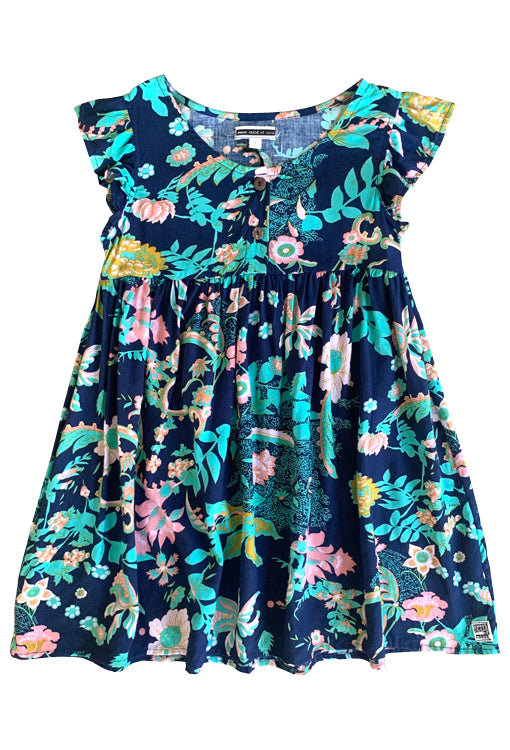 Babydoll Dress - Flora Navy